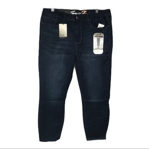 Seven Ankle Skinny High Rise Jeans, Size 18